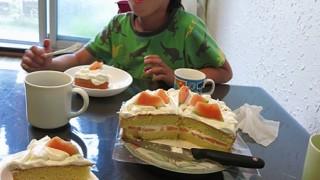 息子の誕生日に手作りケーキ